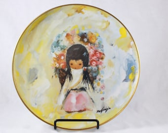 DeGrazia Flower Girl Plate Southwest American Indian Native American Gift For Women Limited Edition