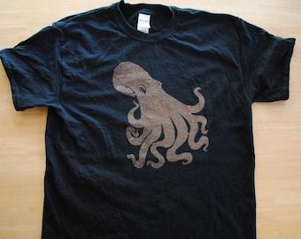 "Realistic Octopus Bleach ""Dyed"" Shirt"