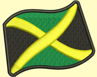 Jamaica flag Machine Embroidery Design instantly download