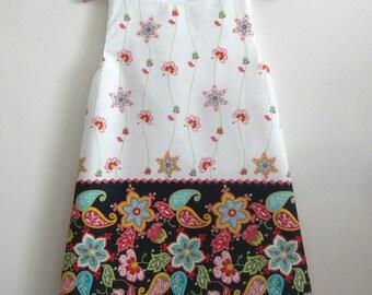 Girl's dress , child's dress , tunic dress  , cotton dress , french dress