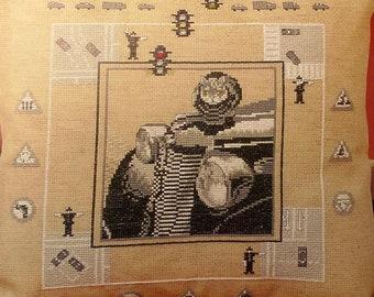 oldtimer oehlenschläger 84253 ooe-design cross stitch kit dimensions 34 x 38cm - 14 x 15 inch