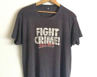 Vtg. Fight Crime Shoot Back 80s NRA T-Shirt / Size Large