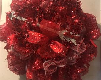 Valentine with Arrow Wreath