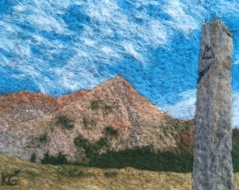 Georgia Pass, Colorado - Felted wool landscape from Colorado Trail and Continental Divide Trail, perfect wall art for hiker or backpacker