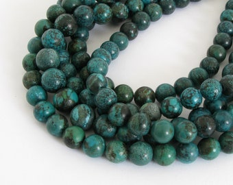 Genuine Turquoise Beads - 8mm Turquoise Round Beads, Turq227
