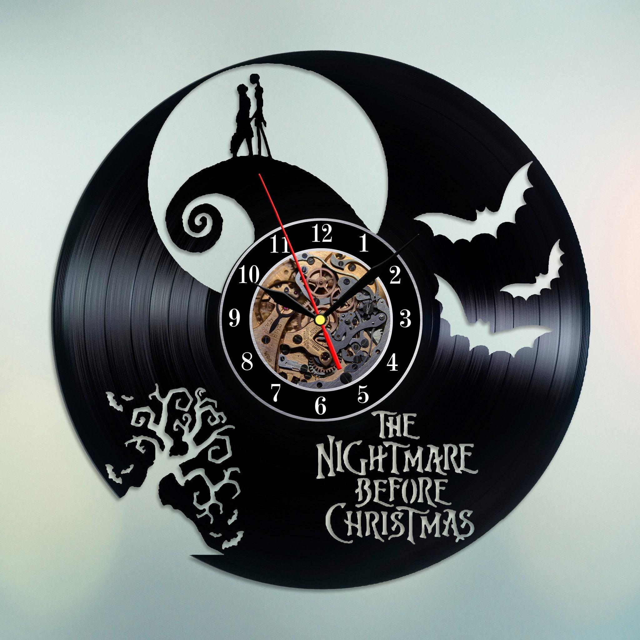 The Nightmare Before Christmas wall clock Vinyl wall clock NBC