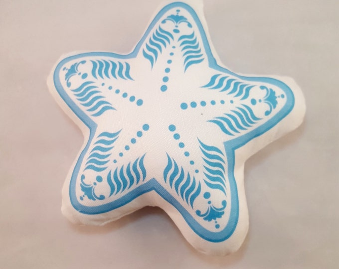 Plush White Starfish- Baby Rattle