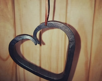 Hand forged heart Christmas tree ornament/home decor ornament