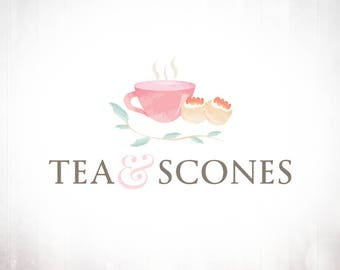 Premade Logo Design • Tea and Scones