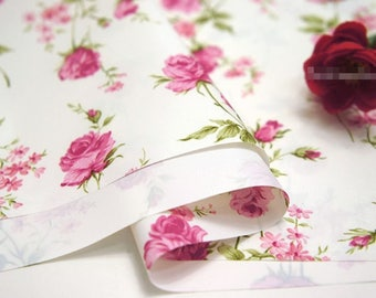 Waterproof Fabric Pink Rose By The Yard