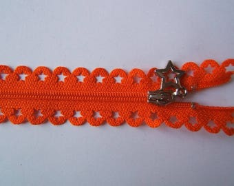 Edward closure lace star 25 cm orange