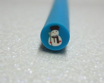 Snowman polymer clay canes winter 1pcs for miniature foods decoden and nail art supplies