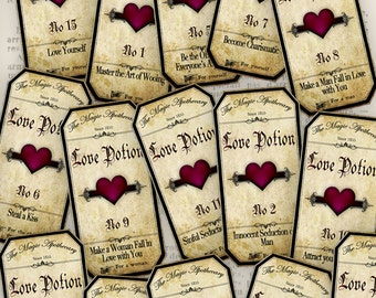 Magic Love Potion Labels - VD0209
