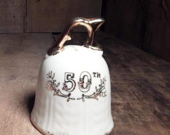 VIntage Porclain Lefton 50th Anniversary Bell
