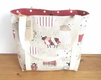 Yarn Project Bag, Project Tote Bag, Knitting Project Bag, Crochet Project Bag, Yarn Tote,  Yarn Bag, Sheep Bag, Sheep Gifts, Knitters Gift