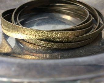 Vintage Bracelet Gold Brass Bracelet Attached Bangle Bracelet Gold Bangles Stacking Bracelets Brass Bangles