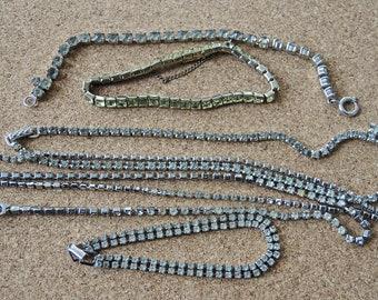 Destash Vintage Rhinestone Jewelry Necklaces and Bracelets