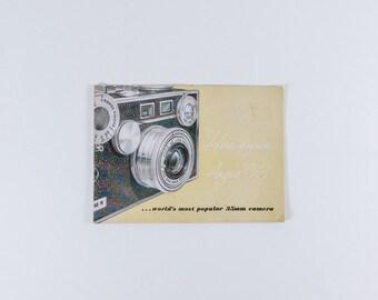 Vintage Argus C-3 Camera Manual