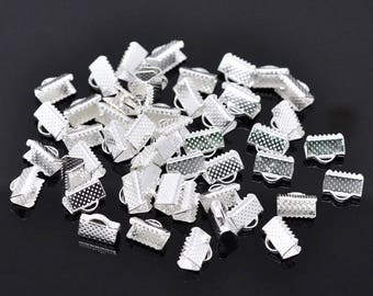 30 caps setting 10 mm silver color ribbon