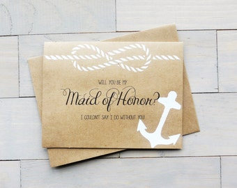 Will You Be My Maid of Honor? Bridesmaid Gift, Beach Wedding