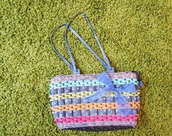 Modern Wicker handbag, colourful, elegant