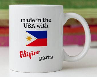 Filipino Gift/Filipino Mug/Philippines Gift/Philippines Mug/Filipino Scene Present/Gift for Filipino/I Love Philippines
