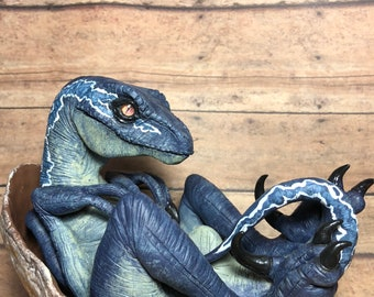 Made-To-Order**Custom OOAK Jurassic Baby Raptor Hatchling Collectible Sculpture