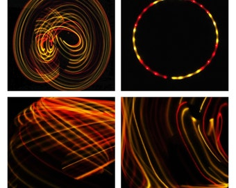 Sections Red & Yellow LED Hula Hoop