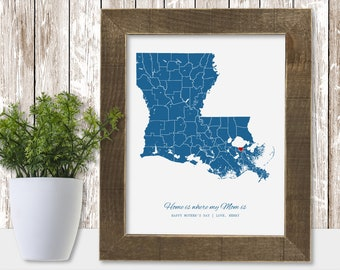 Long Distance Mom Gift for Mom from Daughter Personalize Mom Gift from Son Christmas Mother's Day Birthday Wedding Idea Mother of the Bride