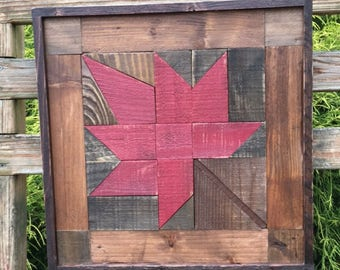 Rustic Fall Maple Leaf made from recycled pallet wood