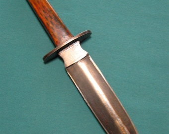 KN020 Hand Made Custom Double Edged Knife Dagger and Sheath by Jay Rather