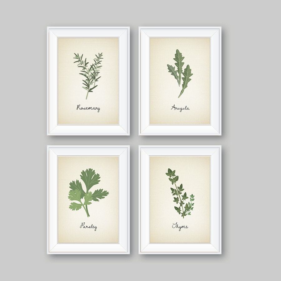 Kitchen Art Nz: Kitchen Decor. Kitchen Art. Herbs Art Print. Herb Art. Herbs
