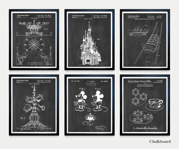 Disneyland - Disneyland Art - Disneyland Patent - Walt Disney - Magic Kingdom - Disney World - Disney Patent - Disney Art - Disney world art