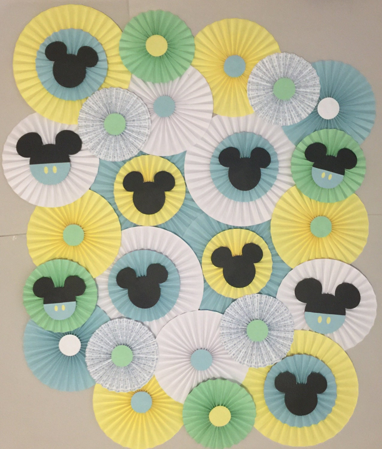 Paper Rosettes Mickey Mouse Birthday Decor Photo Booth-Flower