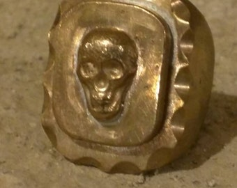 Skull souvenir biker ring