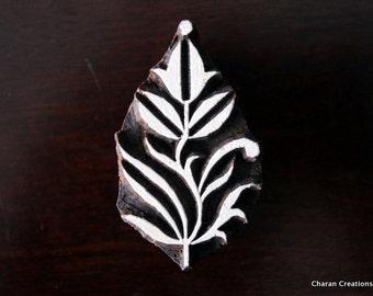 Textile Stamp, Pottery Stamp, Indian Wood Stamp, Tjaps, Blockprint Stamp-  Floral Motif