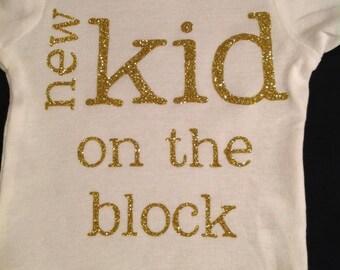 New kid on the block custom onesie