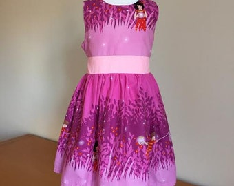 Girls Dresses, Princesses, Baby Girls 1st Birthday Party Outfit, Pink Party Dress , Handmade Dress - Christening Dress