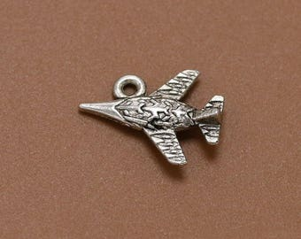 15pcs Airplane Charms, 17x13mm Antique Silver Airplane Charms Pendant, Aircraft Charms Pendant