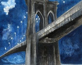 Blue Night, Brooklyn Bridge