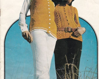 Paton's Knitting Pattern No 960,  Patons Present The Long Cardigan  (Vintage 1970s)