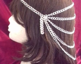 Hair chain headpiece / bridal headpiece / bridal hair chain / hair chain / Burlesque hair jewelry / Cleopatra headpiece