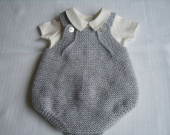 Handknitted Baby Romper Suit