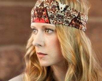 Wide Headband, Adult Headband Bohemian Headwrap, Head band, Fabric Headband Hair Wrap, Yoga Headband, Sister Gift for Her Stocking Stuffer