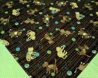 Flannel Pet Blanket, Crate blanket, Cat blanket