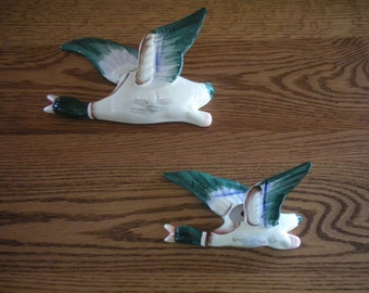 Pair of Flying Geese Wall Pockets Japan