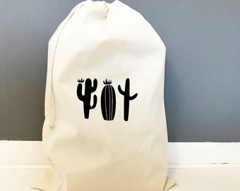 Cotton Drawsting Bags - Succulents - Drawstring Bags - Cactai Image