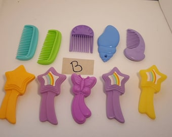 My Little Pony G1 pony accessory comb Lot B