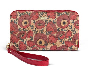 Poppies Cork Wallet