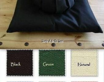 Handmade Meditation Cushion Set Zafu and Zabuton Cotton Canvas You Choose Color